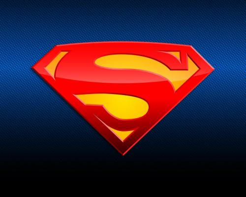 superman logo in blue