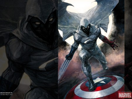 moon knight on captain americas shield