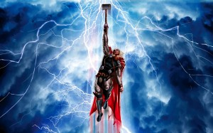 Thor reaches for the sky