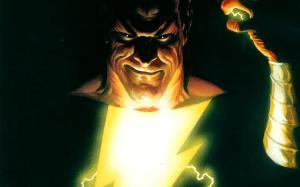 black adam has a smirk