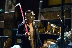 Casey Jones has a hockey stick