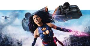 Psylocke cut a car in half