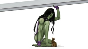 she-hulk saving a kitten