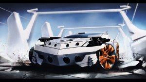 sports car with guns