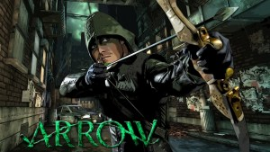 Arrow in a alleyway