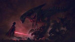 Darth Vader vs Xenomorphs