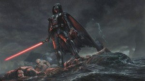 Darth Vader with dead Troopers