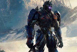Optimus Prime holding a sword