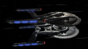 Enterprise and Columbia docking while at warp