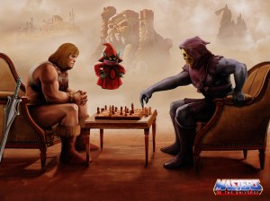 He-man plays chess