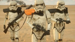 Storm Troopers in the sand