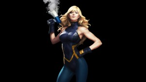 Black Canary broke a megaphone