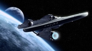 Enterprise and the moon