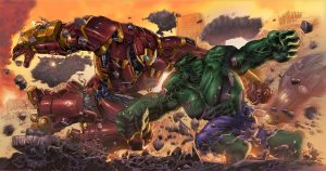 Iron man vs Hulk