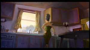 Marge in the kitchen