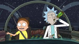Rick and Morty in Space
