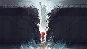 Superman Breaking Down Walls