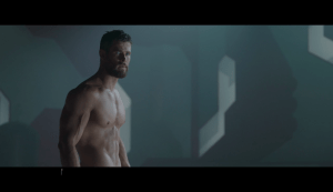 Thor was topless