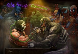 Venom vs Bane at the bar