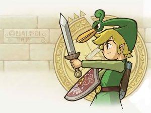 Zelda with a short sword
