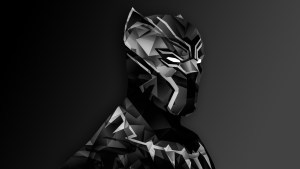 black panther digital art on