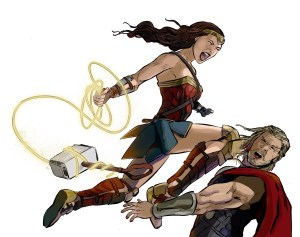 wonder woman defeating thor c3