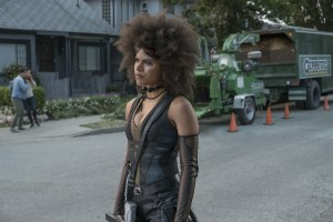 zazie beetz as domino in deadpool 2 movie 0o