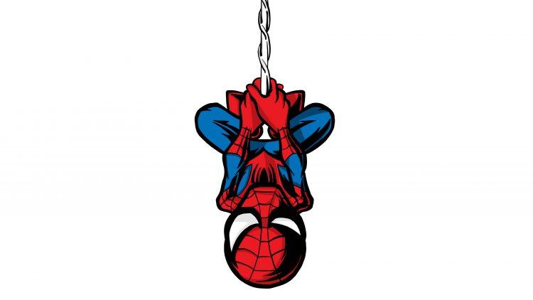 Chibi Spider-man upsidedown