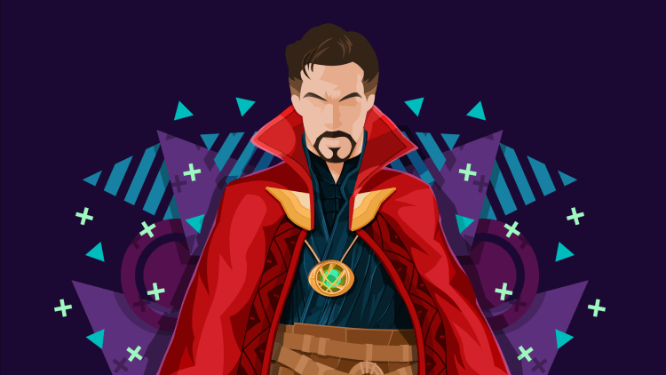 Doctor Strange has no eyes