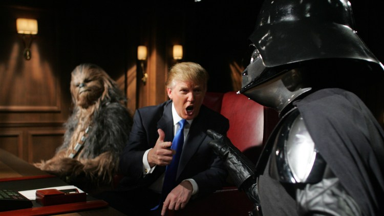 Donald Trump attempting to fire Darth Vader