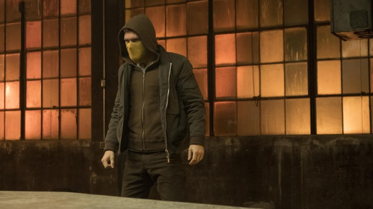 The Immortal Iron Fist in a cheap hoodie