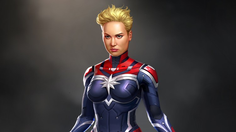 captain marvel in armor