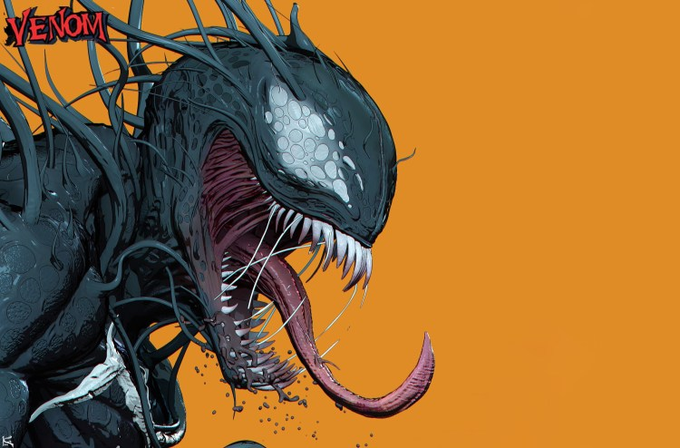 venom has a hinge jaw