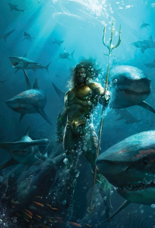 Aquaman with his sharks