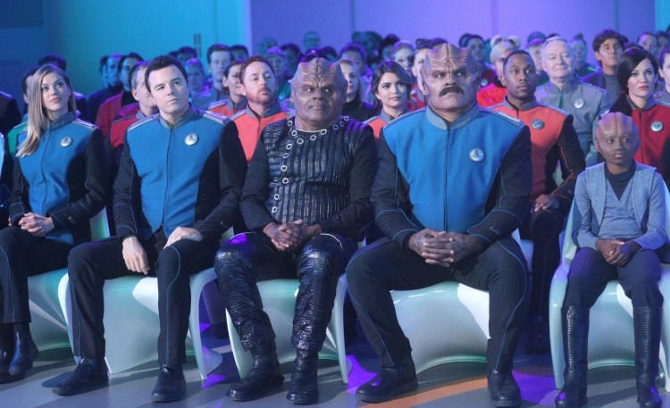 Bortus with a mustache