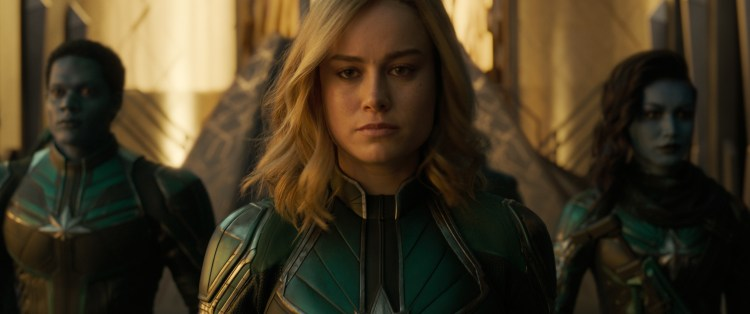 Captain Marvel in green
