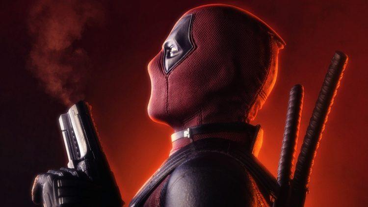 Deadpool with smokey guns