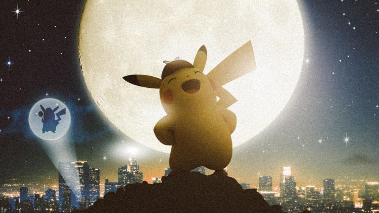 Detective Pikachu at night