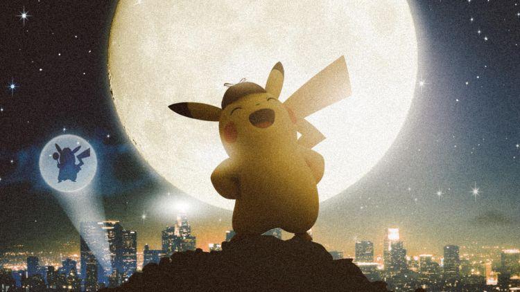 Detective Pikachu at night