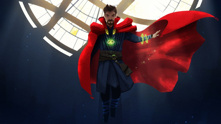 Doctor Strange with one arm
