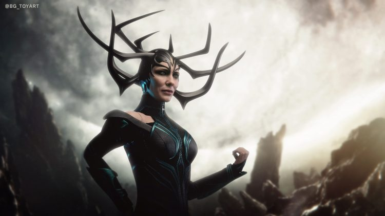 Hela's epic helmet