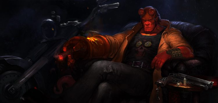 Hellboy on his throne