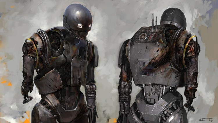 Rogue One, K2SO Damaged State by Tyler Scarlet