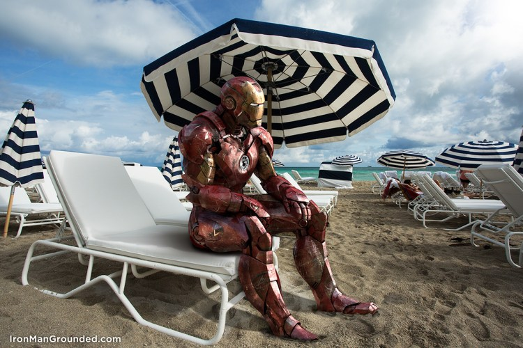 iron man at the beach