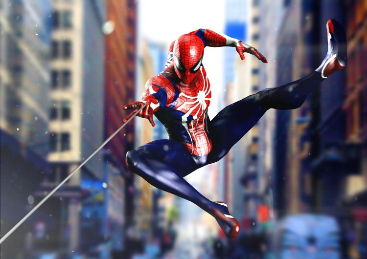spider-man in motion
