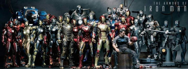 the armors of iron man