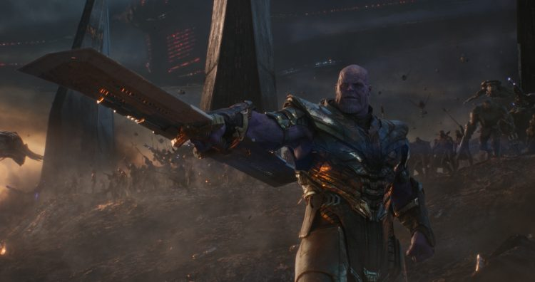 Thanos has a helicoptor blade
