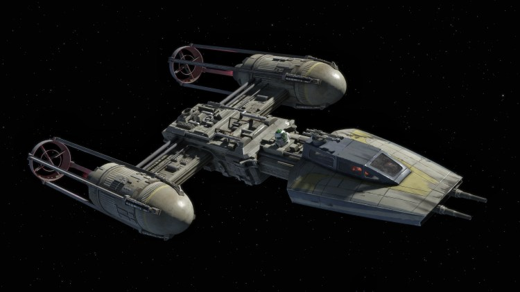 Y-Wing In space