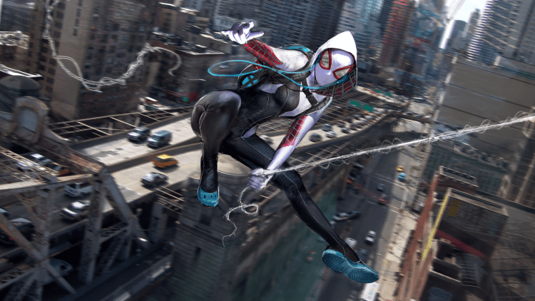 spider-gwen in motion