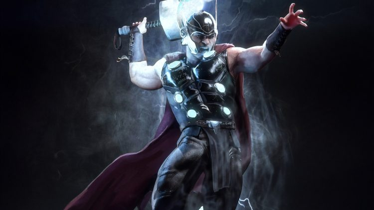 thor with electric hammer